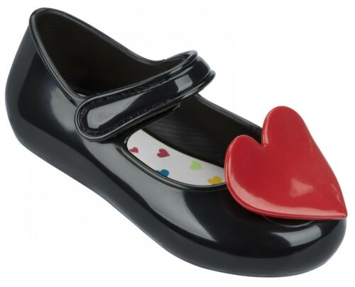 10 7 Girl/'s Casual Mary Jane Shoe Mel Baby Heart Black UK Size 5