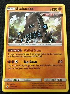 Pokemon Card   STAKATAKA   Holo Rare  106//214 UNBROKEN BONDS  *MINT*