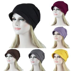 Women-Solid-Muslim-Stretch-Cancer-Chemo-Turban-Hat-Hair-Loss-Head-Scarf-Wraps