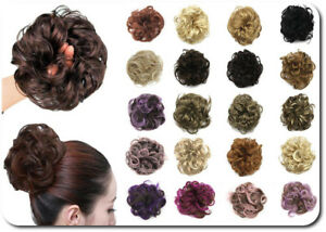 Scrunchie-Haargummi-Haarteil-Haarverdichtung-Haarknoten-Dutt-Zopfgummi-Haarband