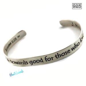 Image Is Loading Scripture Bracelet Sterling Silver 925 Romans 8 28