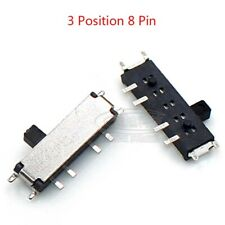 Micro Slide Switch 3 Position 8 Pin Mini Smd Switch Pcb Panel Mount 15mm Handle