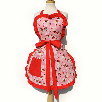 Hemet Retro Cupcake & Cherry Apron 50's pinup Rockabilly kitsch housewife craft