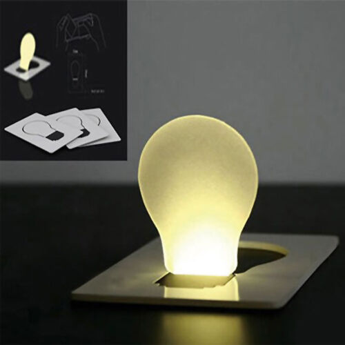 NEW PORTABLE CREDIT CARD SIZE WALLET PURSE POCKET LED NIGHT LIGHT BULB LAMP