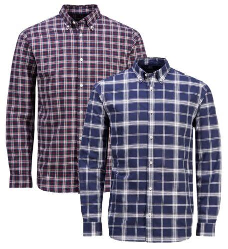 JACK /& JONES Premium Long Sleeve Shirt Mens Slim Fit Check Casual Smart Shirts