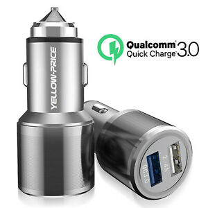 Dual-Car-Charger-Adapter-2-USB-QC3-0-36W-Fast-Quick-Charging-Certified-Universal