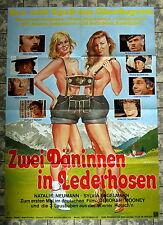 ZWEI DÄNINNEN IN LEDERHOSEN * A1-Filmposter - German 1-Sheet 1979 EROTIK