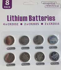 4x Cr2032 2x Cr2025 2x Cr2016 Litio Botón Celular Baterías 3v Reino Unido