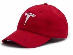 Embroidered TESLA car Logo Baseball Cap Hat Sport Racing red Model S ... 72a6328a04a