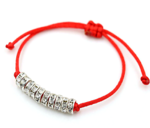 Free Ship 1//10pcs Chinois Noeud String Crystal Lucky Rouge Cordon Réglable Bracelet