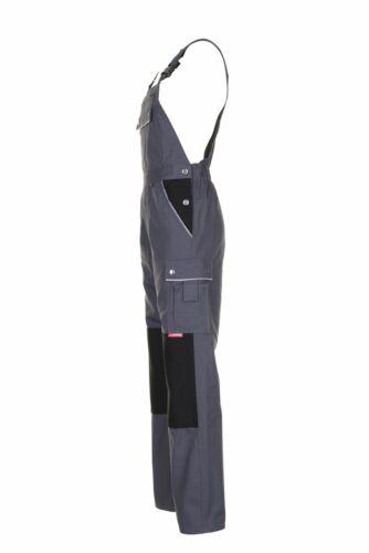 Planam Canvas 320 Herren Latzhose grau schwarz Modell 2133