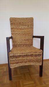 Sehr Bequemer Holz Rattan Sessel Oder Stuhl Von Danisches