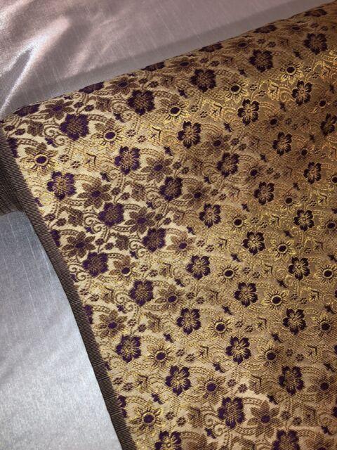 "1 mtr gold damask banarsi brocade fabric..45""wide"