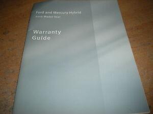 ford escape mercury mariner hybrid warranty owners