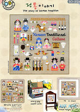 """The Story of Korean Traditional Culture"" Cross stitch chart. SODA SO-3124"