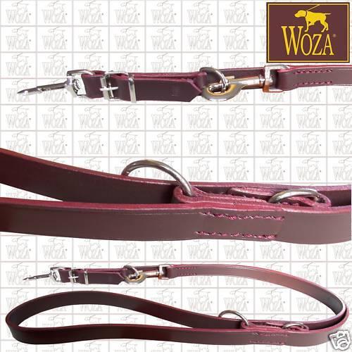 WOZA Premium Hundeleine Handgenäht Vollleder Vollleder Vollleder Lederleine Rindsleder Leash L1873  | eine breite Palette von Produkten  1bc2cf