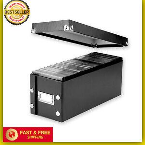 CD-Storage-Rack-Disk-Box-Holder-Case-Media-Display-Space-Store-Organizer-Black