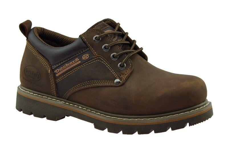 DOCKERS Zapatos Hombre De Cuero NUEVO Bajos con cordones marrón NUEVO Cuero b06d17