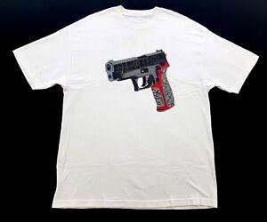 Vintage-PFK-Hype-Kills-Gun-White-Tee-Jordan-Elephant-Print-Size-XL-Mens-T-Shirt