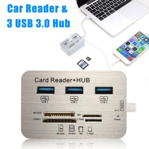 Universal 3 USB 3.0 Hub MS SD M2 TF Speicherkartenleser Card Reader Adapter new