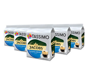 TASSIMO Jacobs Caffe Crema Mild Coffee Capsules Pods T-Discs 5 Pack, 80 Drinks