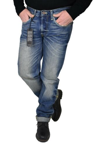 Jeans Lee Da Uomo daren pantaloni regular slim fit denim in cotone blue w32 34