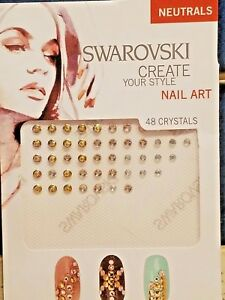 Image Is Loading Swarovski Crystal Nail Art 034 Neutrals Kit