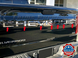 2019-2020-Chevy-Silverado-Tailgate-Letter-Door-Cover-Accent-Trim-Insert-7Pc