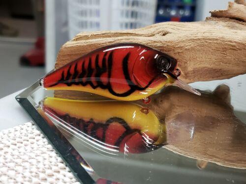 Rayburn red craw Custom painted 2.5 square bill crankbait