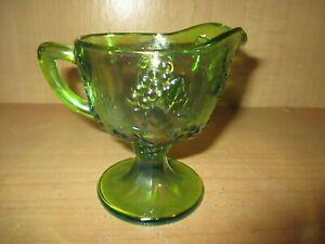 Indiana-Harvest-Iridescent-Lime-Carnival-Glass-Creamer
