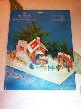 Vintage Hallmark Plans A Party  Christmas Fold Out Display Santas Toy Shoppe