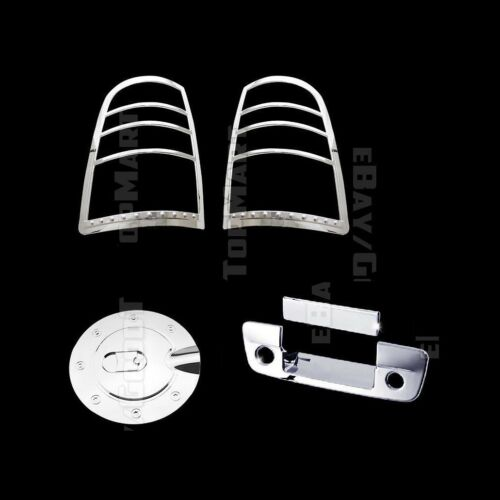 Dodge Ram 1500 2009~2017 2500//3500 10-16 Chrome Gas Tail lights Tailgate Covers