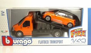 Bburago-31405-Car-Hauler-w-MINI-COOPER-S-034-Orange-034-METAL-1-43
