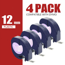 4pk 16952 Letratag Refills Compatible Dymo Lt Clear Label Tape Label Maker 12mm