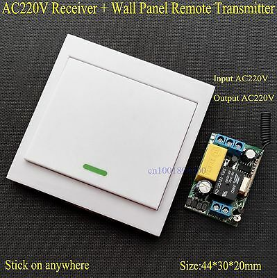 Wireless Remote Control Switch AC 220V Receiver Wall Panel Remote Transmitter Ha