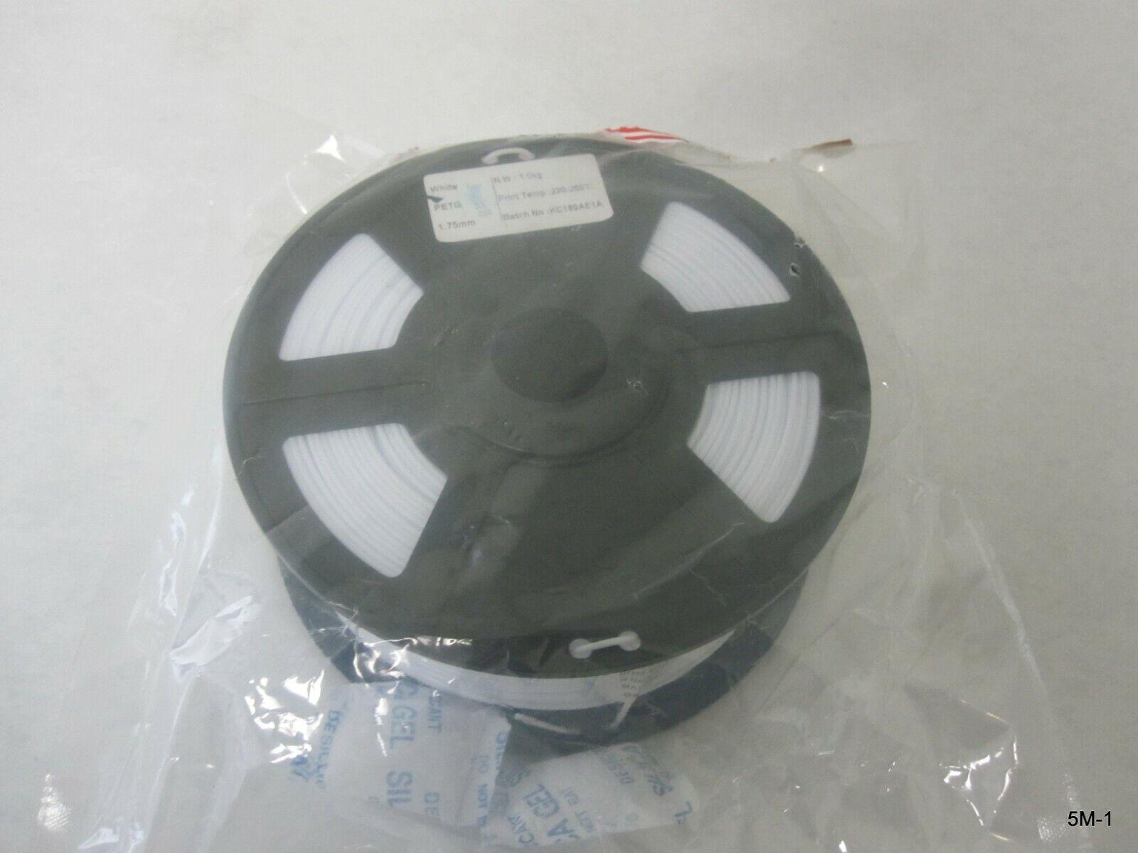 3D Printer Filament White 1.75 mm PETG 1 Kg