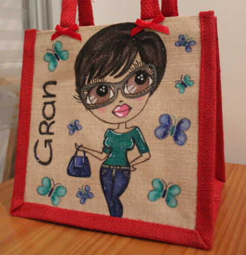 ***Personalized Jute Bag Hand Painted!**Made to order**