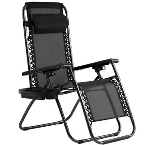 New Patio Chairs Zero Gravity Chair Lounge Chaise  Recliners Folding with Pillow