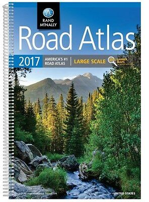 Rand McNally 2017 Large Scale Road Atlas (Spiral-bound) BRAND NEW Shipping NOW!!