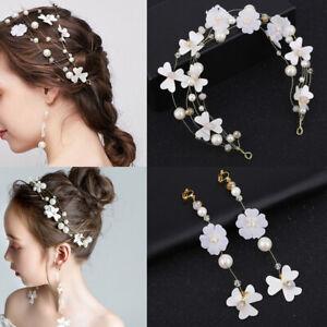 Pearl-Flower-Crystal-Rhinestone-Wedding-Bridal-Headband-Clip-Hair-Band-Tiara