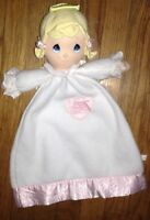 RARE 2001 PRECIOUS MOMENTS BABY GIRL ANGEL SECURITY BLANKET