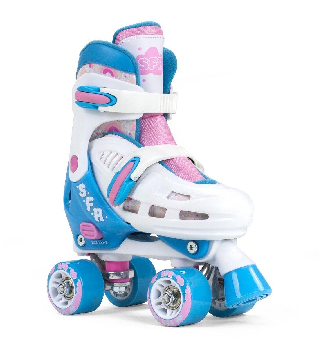 SFR Storm III Kids Adjustable Roller Skates -  Weiß / Rosa
