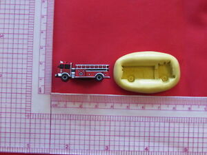 Fire Truck Silicone Mold Polymer Clay A889 Resin Miniature