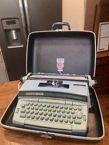 Smith Corona Coronet Super 12 Blue Coronamatic Electric Typewriter + Case Works