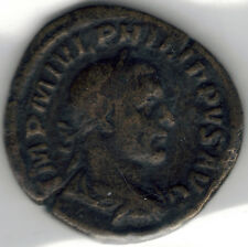 TMM* 244 AD Roman Imperial Sestertius Phillip I aF/VG 28-29 MM bronze/nice