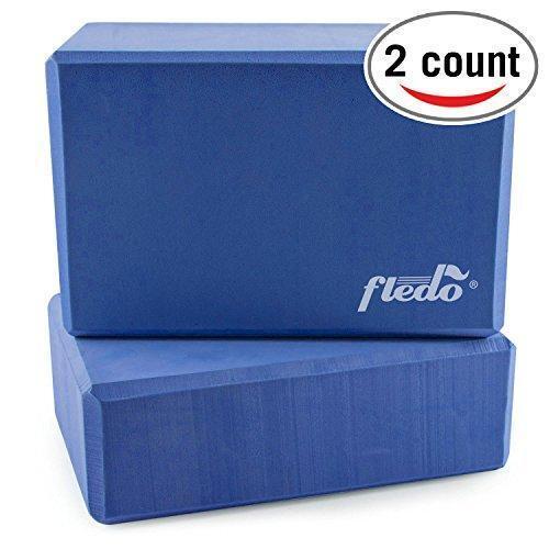 Yoga Blocks (Set of 2) 9″x6″x4″ EVA Foam Brick, Provides Stability and Balance