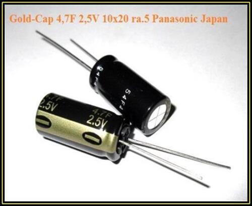 Panasonic Gold Cap Speicher Elko 4,7F 2,5V Kondensator Capacitor 1 Stück