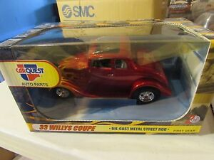 First Gear Carquest Auto Parts 33 Willys Coupe Die Cast Red Ebay