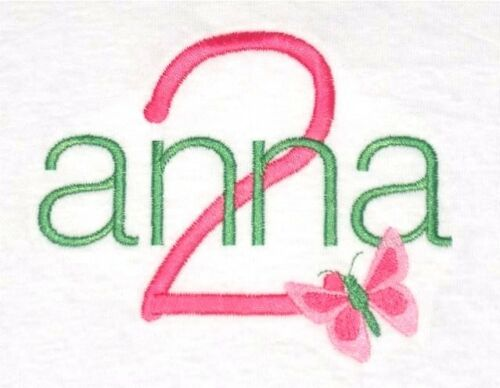 Personalized Girl/'s Birthday Shirt Custom Name Age Number with BUTTERFLY