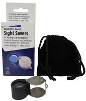 Bausch & Lomb Triplet Lance Loupe 7x Magnifier Gold Jewelry Us Coin Gems Stamps